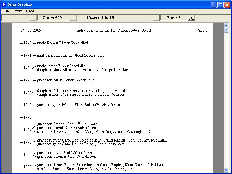 Brothers Keeper Genealogy Program Sample Reports – Sample Reports